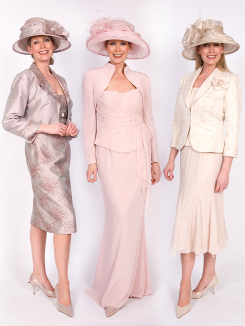 Three Mother of the Bride dresses form Gina Smart Fashion's collection of outfits